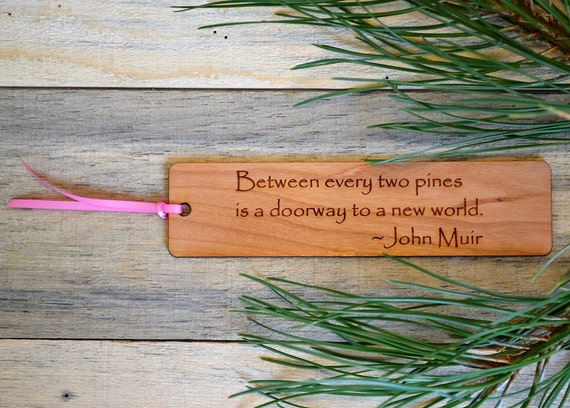 NATURE BOOKMARKS: Choose from 6 quotes; see lists in photos for choices! Each bookmark is engraved on cherry wood, and can be personalized!