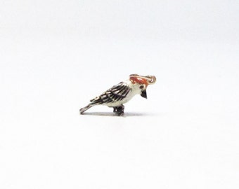 WOODPECKER, Charm, Bird Gifts for Women, Sterling Silver, Charms Only, Gift for Her, Enameled, Nature Lover, Bird Lover Gift, Bird Jewelry