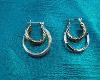 Hoop Silver Tone Gold Tone earrings Pierced ears
