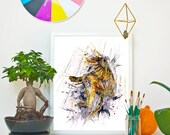 SILENCE - Owl *Limited Edition Giclée Print on Watercolour Paper - 300gsm.