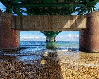 Mackinac Bridge-Underneath