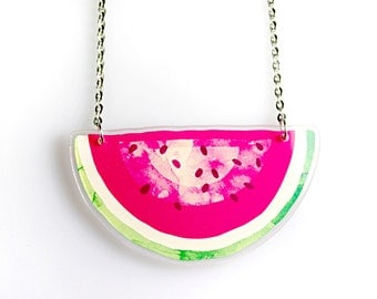 Acrylic Necklace WATERMELON Finart-Jewellery