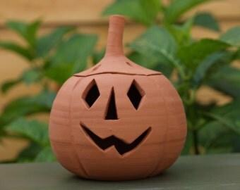Ceramic Pumpkin - small - handmade ceramic pumpkin, as seen in Modern Gardens magazine October 2016 issue, Halloween