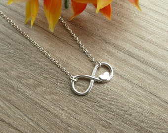 Infinity Pendant Necklace, 925 Silver Infinity Necklace, Gold Infinity Necklace, Thin Chain Necklace, Minimalist Necklace