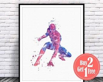 BIG SALE: Spiderman print, spiderman poster, spiderman art, spiderman wall art, spiderman decor, watercolor download, boys artwork, superher