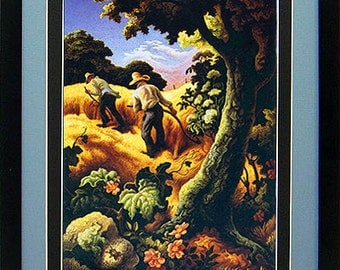 Thomas Hart Benton July Hay Art Print Custom Framed A+ Quality
