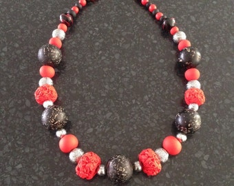 Caitlyn - Bold Red Statement Necklace