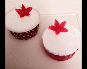 Red Velvet Cupcake soap