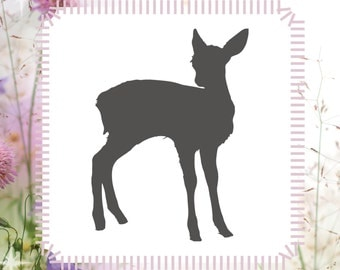 Deer Doe Fawn Animal Stencil Reusable Craft Stencil