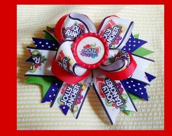 Adorable 5 inch Jolly Ranchers hair bow