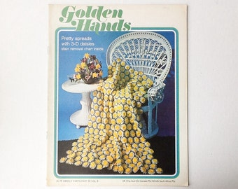 1970s Golden Hands Magazine, Part 31, Volume 3, Vintage Craft Magazine, Crochet, Sewing and Knitting Patterns, 00247