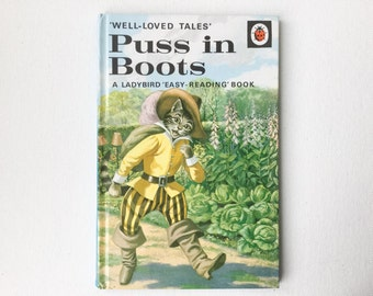 Vintage Ladybird Puss in Boots Book, Well Loved Tales, Series 606D,  Vera Southgate, Eric Winter, Gloss Hardback, 1989,  00505