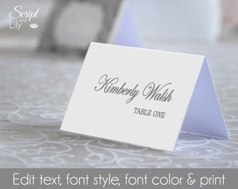 """Blank Place Name Card Template 