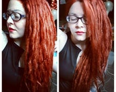 Lace-Front Ginger Synthetic Dreadlock Wig * Ginger Red * Synthetic Dreads *Dread Extensions * Cosplay * Festival * Wildling * Dystopia