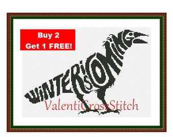 Game of thrones Cross Stitch Pattern, Winter is coming, Cross Stitch, Pattern, Patterns,