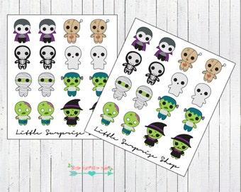 Zombie/Ghost/Vampire Stickers // D001