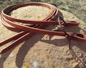 "5/8"" Weighted Heavy Harness Leather Split Reins"