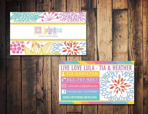 Lularoe business card lularoe calling card by thewrightinvite for Etsy lularoe business cards