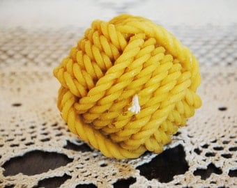 Beeswax-Knitting Candle-Dinning- Xmas, Christmas Table Centre Piece, Wedding Candle