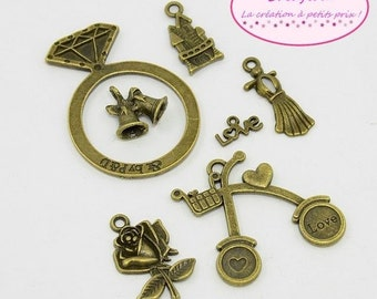 14 charms theme romantic Bronze 7 models
