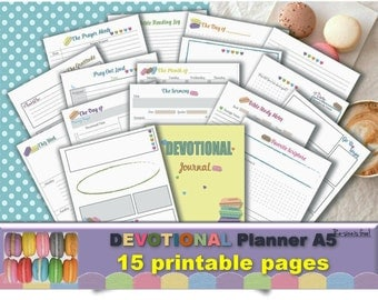 Bible journaling daily study printable templates verses workbook writing prompts devotional religion a5 planner inserts Resize is FREE