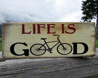 Barn Wood Bicycle Wall Art - Bicycle Decor - Reclaimed Wood Sign - Rustic Bicycle Sign - Barn Wood Cycling Sign