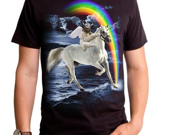 Sloth Viking (GT6884-101BLK) Men's T-Shirt. sloth, viking, unicorn, rainbows, space, angels, funny tees, nerdy tees, mythical creatures