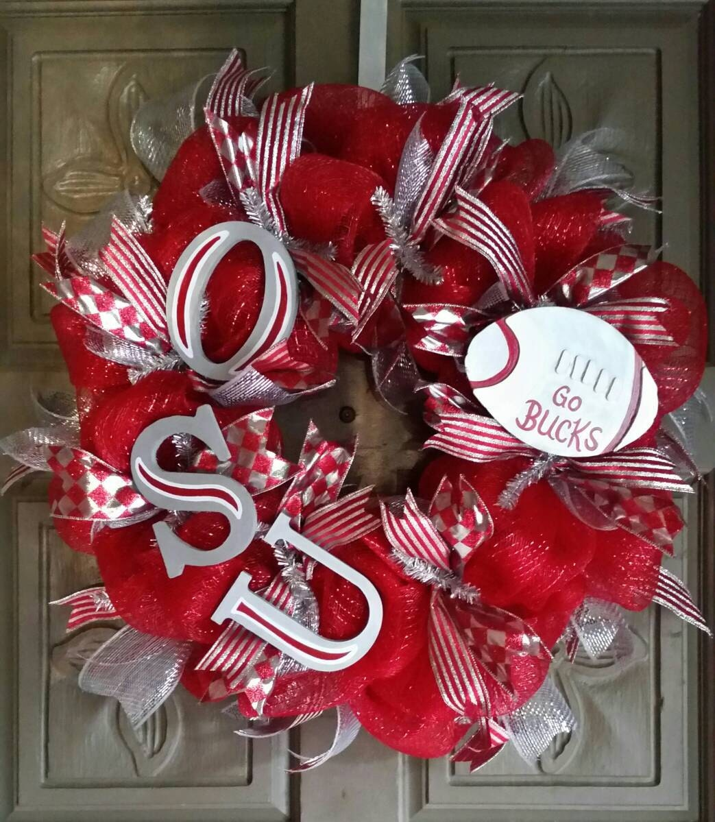 Ohio State Buckeyes Deco Mesh Wreath