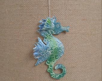 Seahorse, handmade ornament