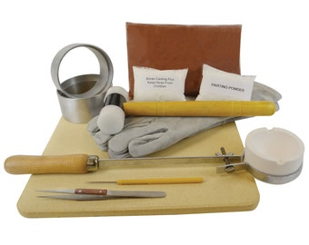 DELUXE Quick Cast Petrobond Sand Casting Kit for Precious Metals,Jewelry Making,Pouring Gold Silver Shapes Delft Clay Alternative! KIT-0054