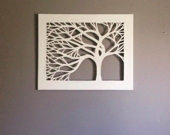 Canvas Cut Tree