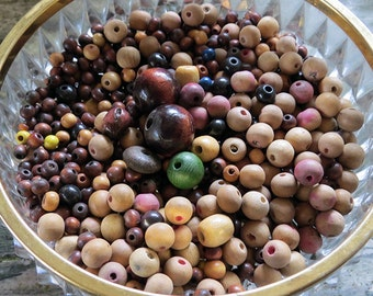 Perfect big batch of vintage wooden multifunctional mixed sized beads