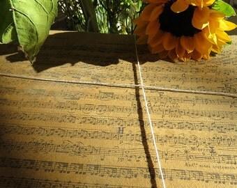 Set of 5 vintage music sheets