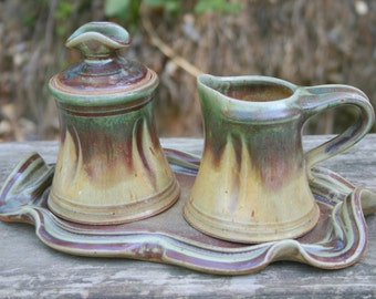 Cream and Sugar Set with Tray