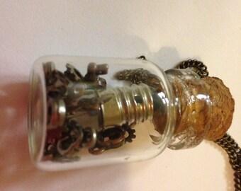 Steampunk Found Object Necklace