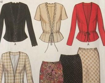 Elegant Blouse and Skirt Ensemble Pattern New Look 6052