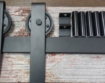 Rustic or Modern Flat Track Hardware for Sliding Interior Doors, Barn Doors, or Contemporary Doors-FREE SHIPPING!