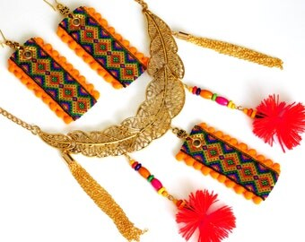 African jewelry set ethnic jewelry set