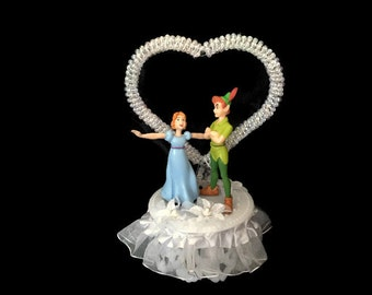 Peter Pan and Wendy CakeTopper