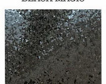 Chunky smooth glitter fabric A3 black