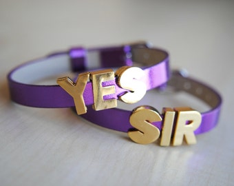 YES SIR Bracelets -- Harley Quinn Inspired -- Suicide Squad -- The Joker -- Handmade -- Fandom Fashion