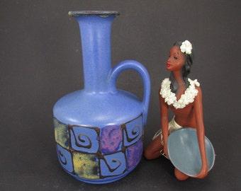 Vintage ceramic vase/jug by Ruscha / Model R22   West German Pottery   50s