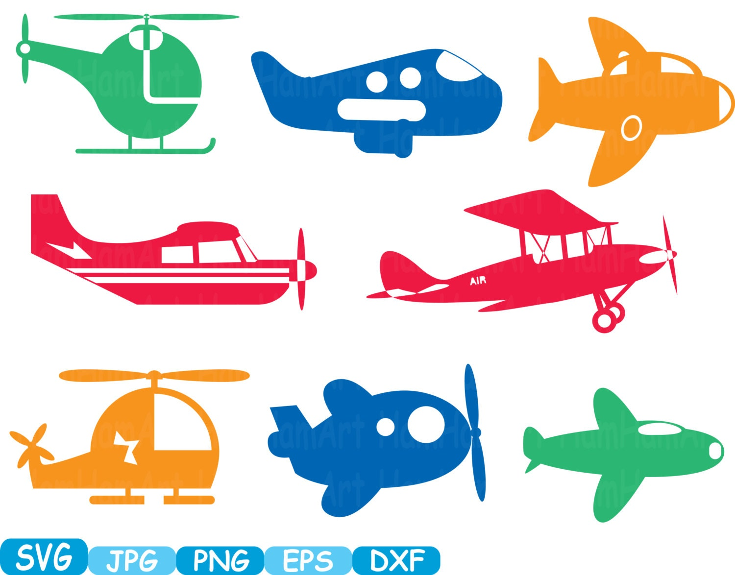 Color Plane Toys Airplane Monogram Cutting Files Svg