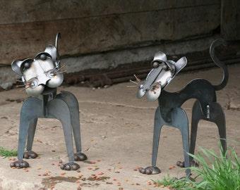 Metal Cat Statue