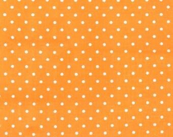 Pinhead Dot (White Dots on Apricot Orange Background) by Michael Miller - CX5514-APRI-D