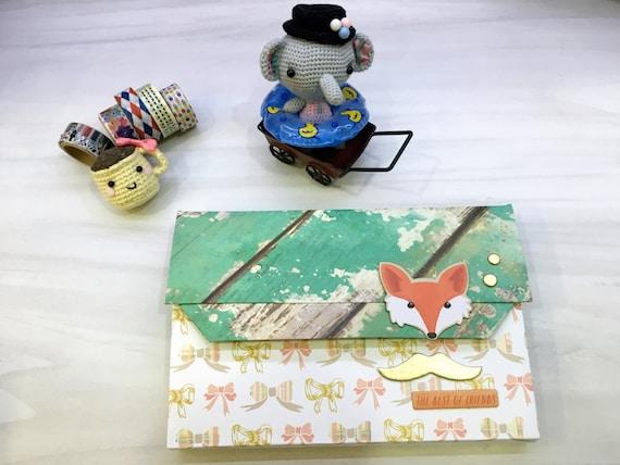 Foxy Paper clutch/ Gift Envelope