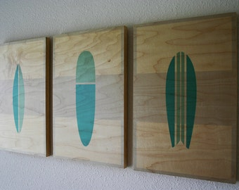 THE QUIVER - Wood Prints | Surf Art | Wall Art | Beach Decor