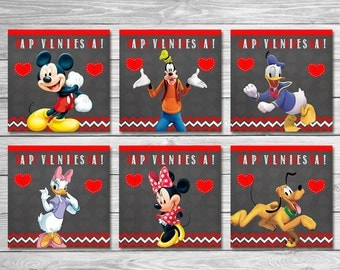 mickey mouse clubhouse valentines day cards chalkboard mickey mouse valentines day party valentines favors