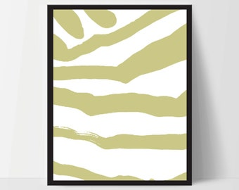 Abstract Zebra, Wall Art, Artwork, Home Decor, Modern Print, Print Art, Instant Download, Mustard Yellow, Nursery, Baby, Digital Print