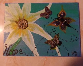 Inspirational Acrylic Painting Hope